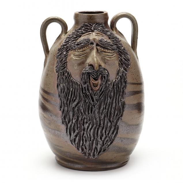 nc-folk-pottery-billy-ray-hussey-swirl-face-jug