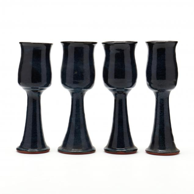 nc-pottery-billy-ray-hussey-four-chalices