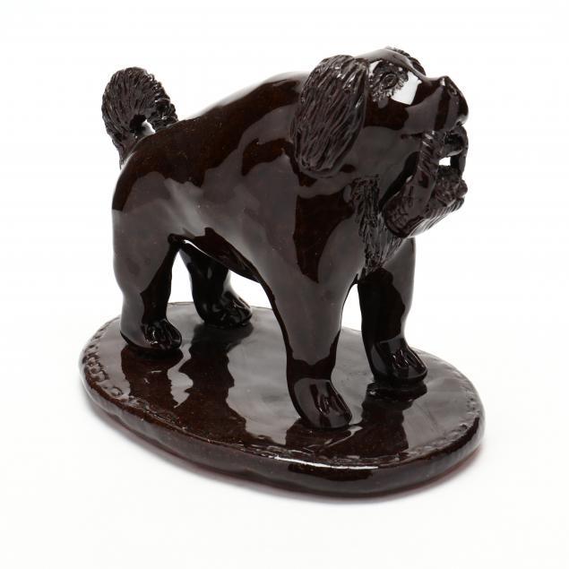 nc-folk-pottery-billy-ray-hussey-dog-with-basket
