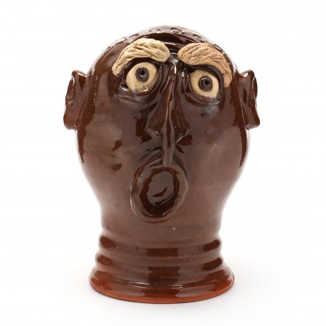 nc-folk-pottery-billy-ray-hussey-wig-stand-bank