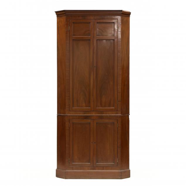 edwardian-mahogany-corner-cupboard