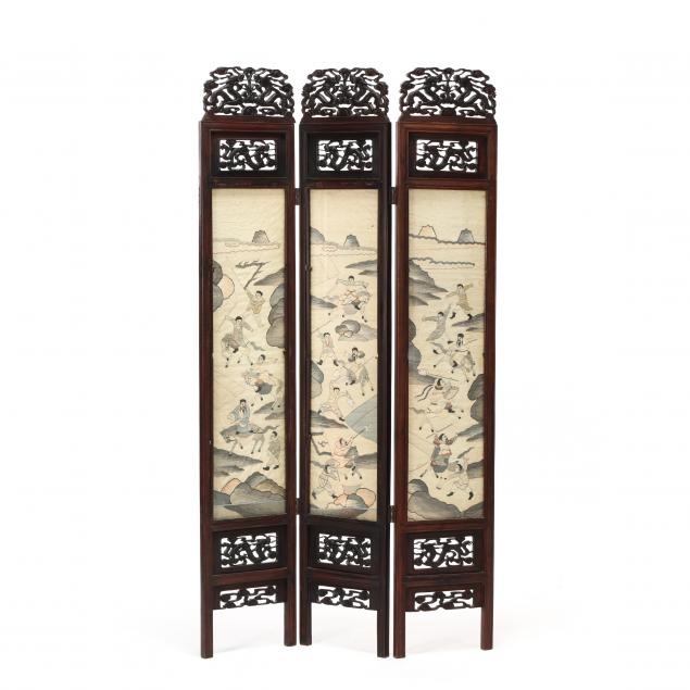 a-chinese-carved-wooden-folding-screen-with-six-kesi-panels