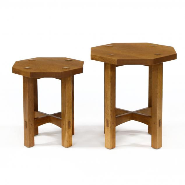 stickley-two-mission-oak-diminutive-side-tables