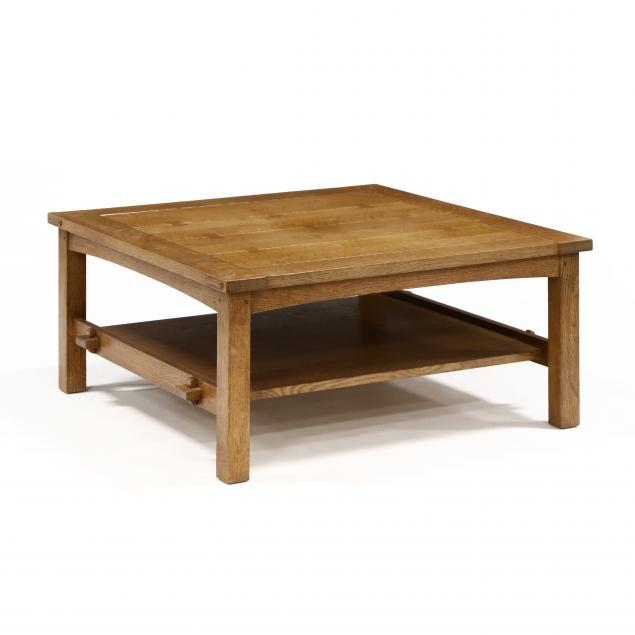 stickley-mission-oak-coffee-table
