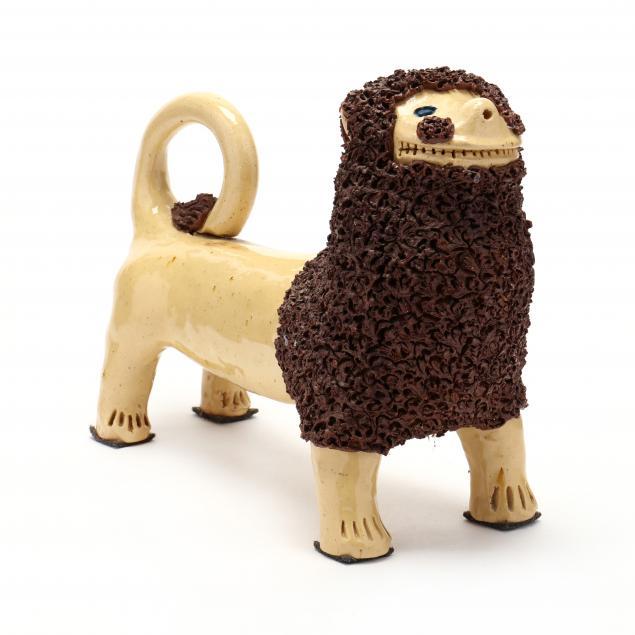 nc-folk-pottery-billy-ray-hussey-medium-size-shenandoah-lion