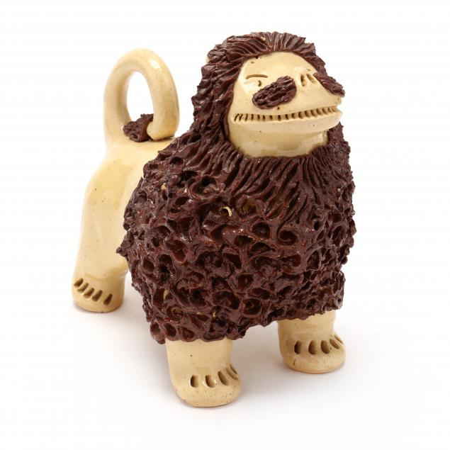 nc-folk-pottery-billy-ray-hussey-standing-lion