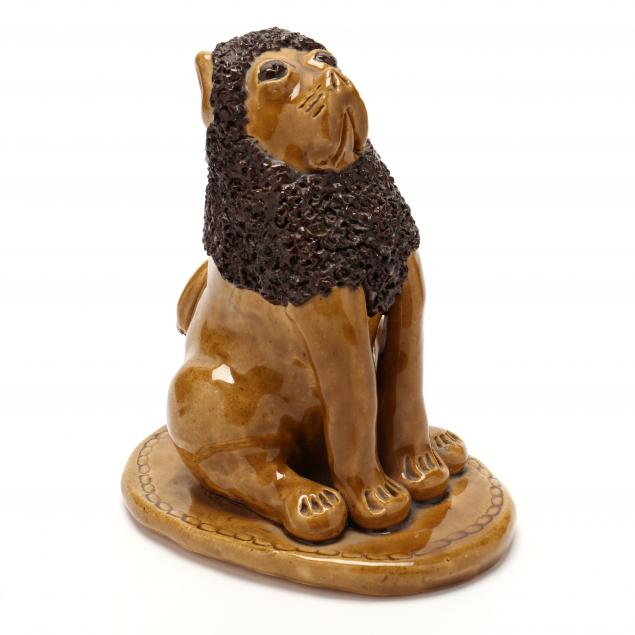 nc-folk-pottery-billy-ray-hussey-brown-eyed-lion