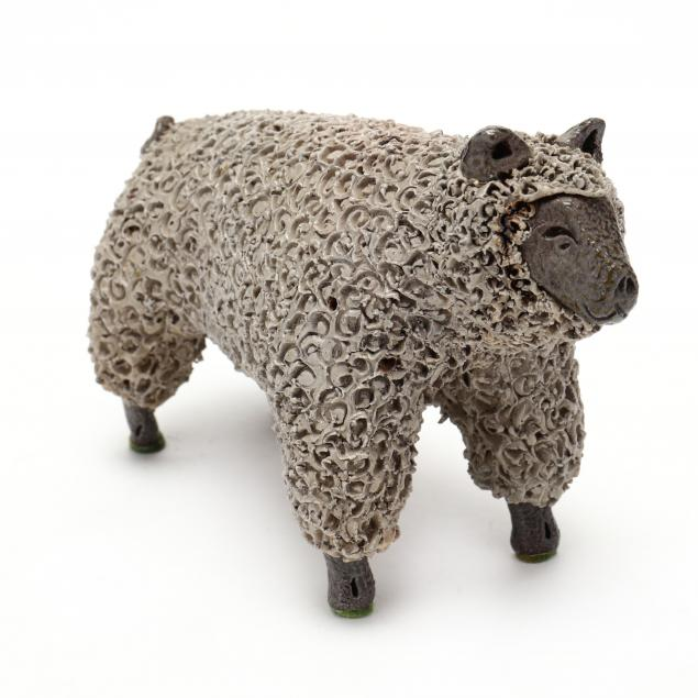 nc-folk-pottery-billy-ray-hussey-standing-ewe