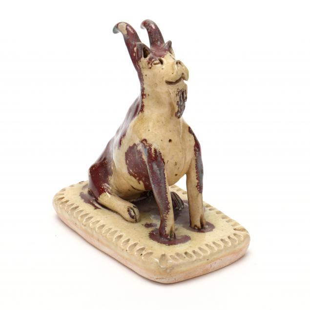 nc-pottery-billy-ray-hussey-seated-goat