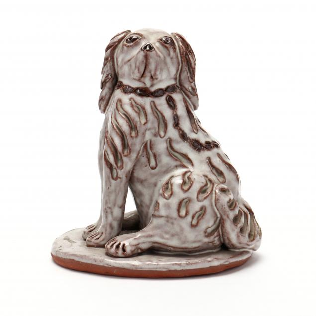 nc-folk-pottery-billy-ray-hussey-seated-dog