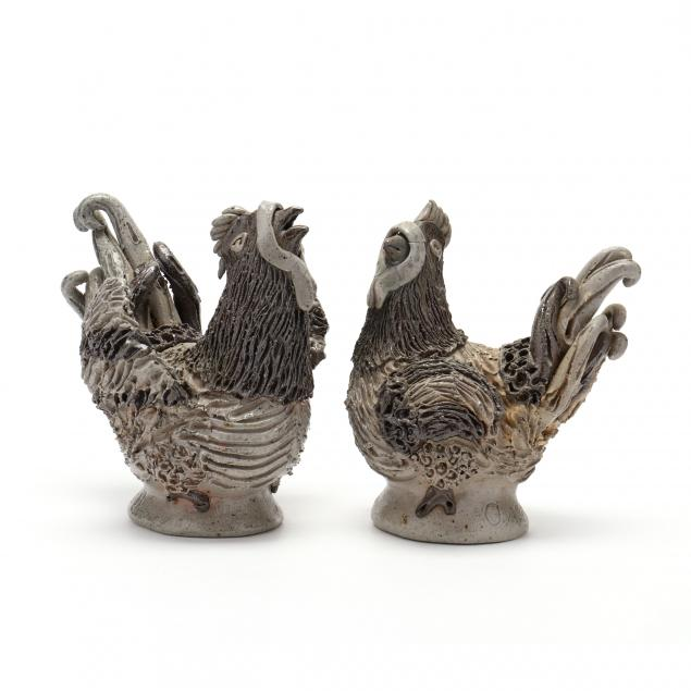 nc-folk-pottery-billy-ray-hussey-rooster-and-hen