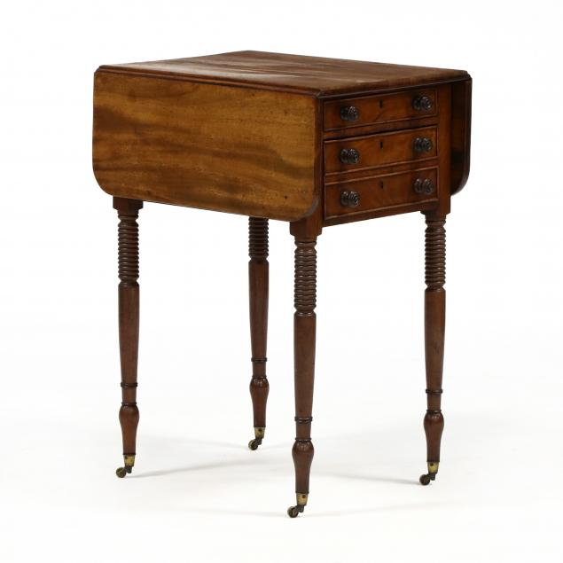 english-sheraton-mahogany-two-drawer-work-table