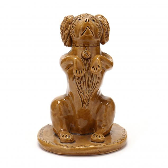 nc-folk-pottery-billy-ray-hussey-begging-spaniel