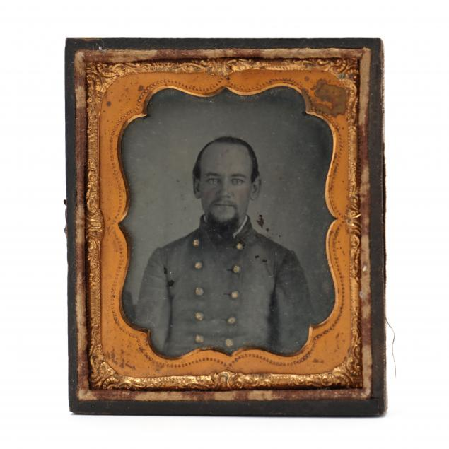 half-case-sixth-plate-ambrotype-of-a-north-carolina-confederate-lieutenant