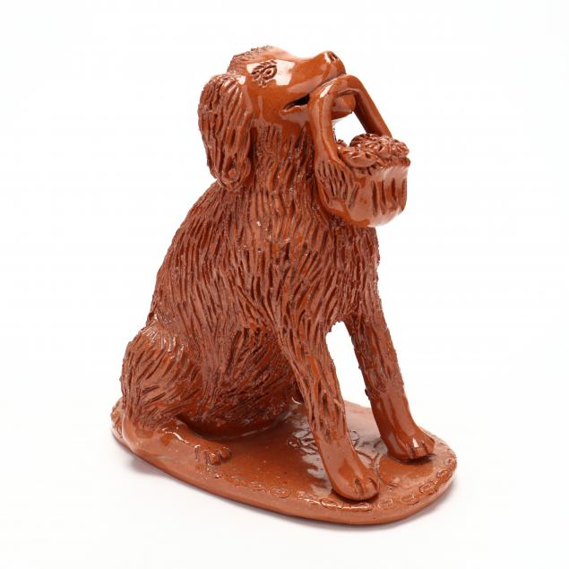 nc-folk-pottery-billy-ray-hussey-redware-dog