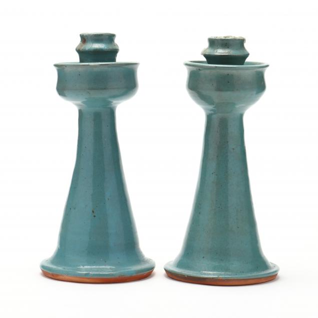 nc-pottery-billy-ray-hussey-pair-of-candlesticks