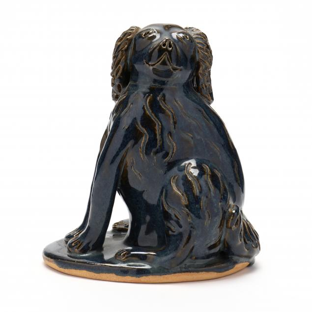 nc-folk-pottery-billy-ray-hussey-seated-cocker-spaniel