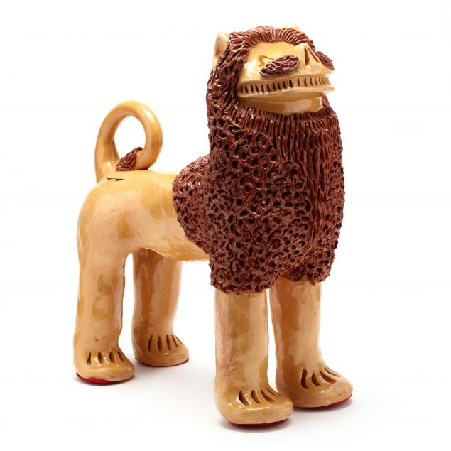 nc-folk-pottery-billy-ray-hussey-important-large-lion