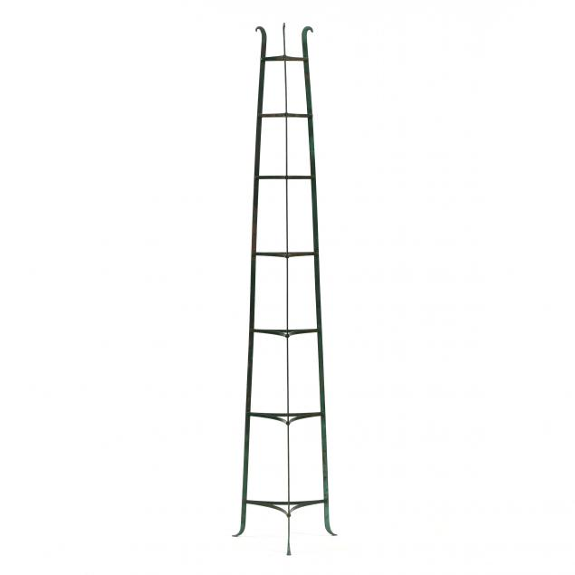 antique-painted-iron-cookware-tower
