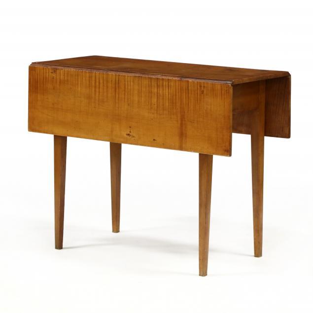federal-inlaid-tiger-maple-drop-leaf-table