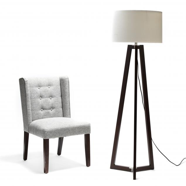 contemporary-floor-lamp-and-club-chair