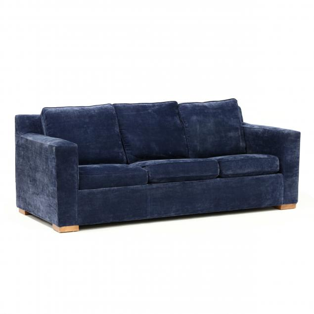 contemporary-blue-upholstered-sofa