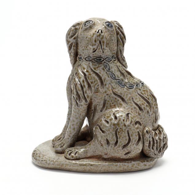 nc-folk-pottery-billy-ray-hussey-stoneware-spaniel