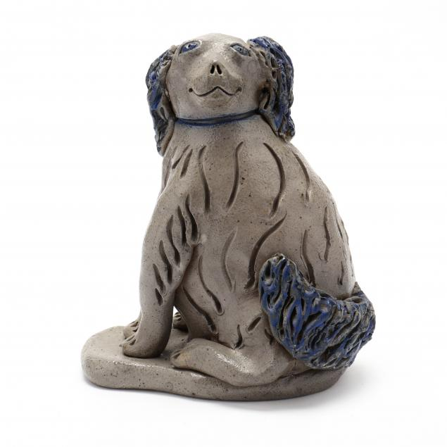 nc-folk-pottery-billy-ray-hussey-cobalt-decorated-dog