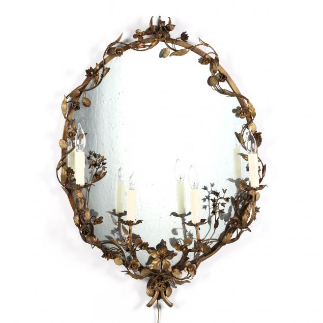vintage-gilt-tole-lighted-mirror