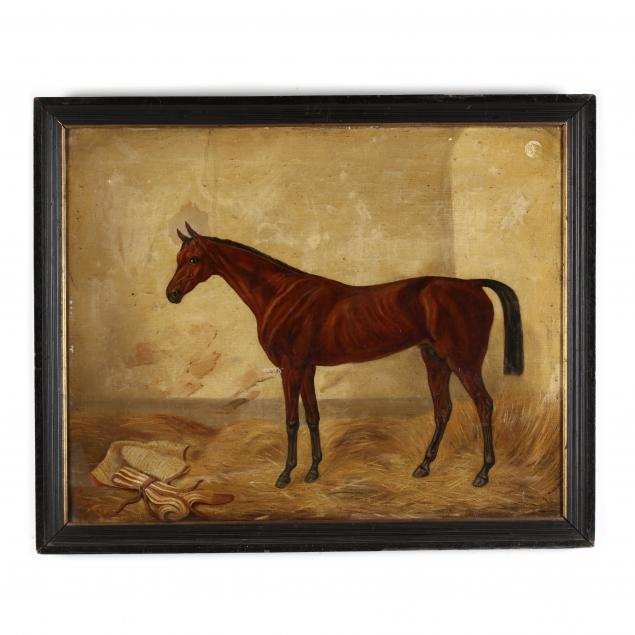 english-school-19th-century-portrait-of-a-racehorse