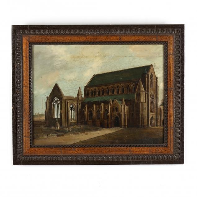 english-school-19th-century-romantic-painting-of-abbey-ruins