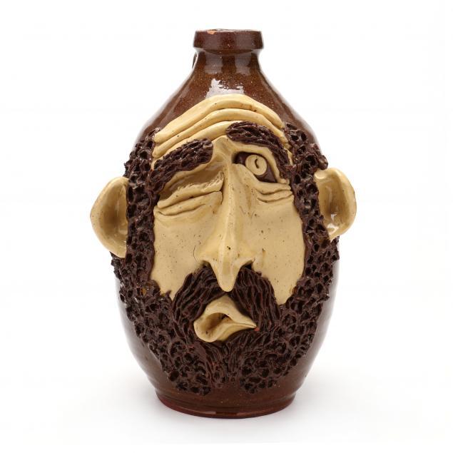 nc-folk-art-billy-ray-hussey-winking-face-jug
