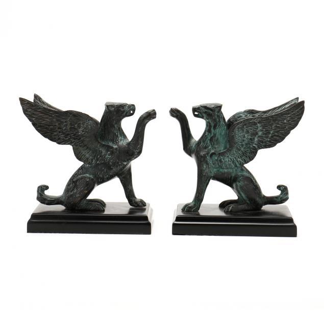 a-pair-small-vintage-bronze-griffins