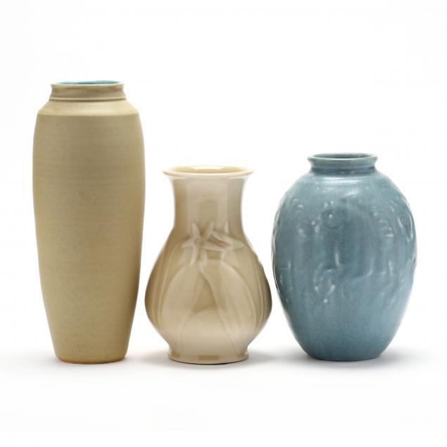 three-american-art-pottery-vases
