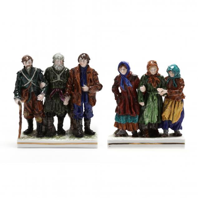 two-dresden-porcelain-figural-groups