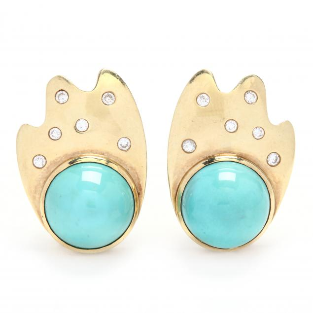 gold-turquoise-and-diamond-earrings