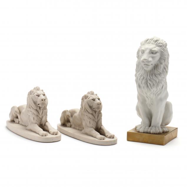 three-bisque-lions