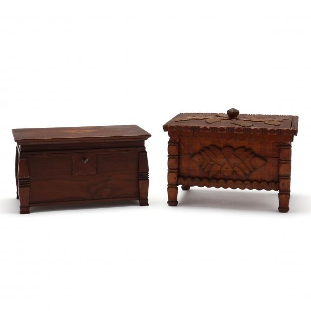 two-antique-folk-art-sewing-boxes