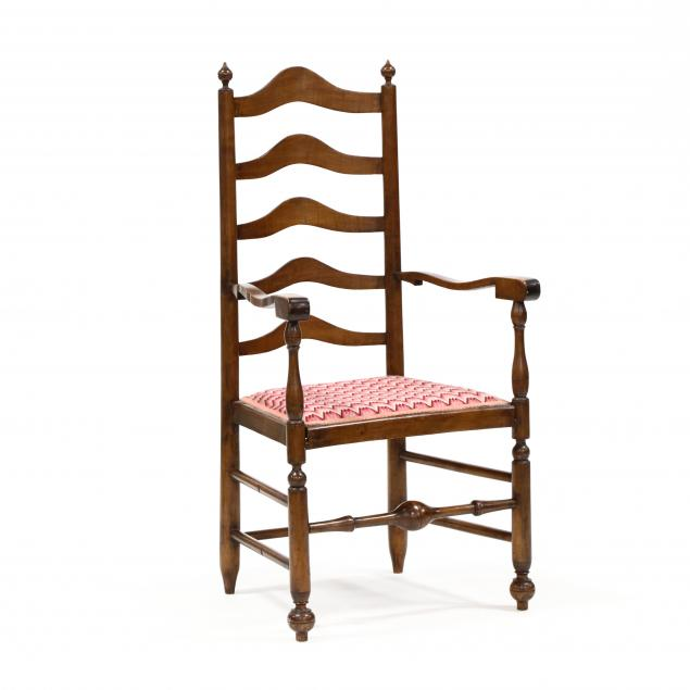 antique-american-ladder-back-arm-chair
