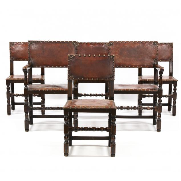 set-of-six-william-and-mary-style-oak-and-leather-dining-chairs