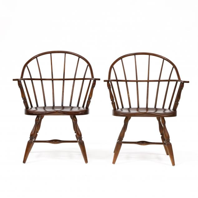pair-of-walnut-hoop-backed-chairs-bob-timberlake-collection