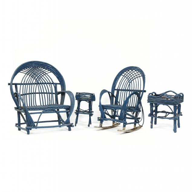 four-pieces-blue-painted-twig-furniture