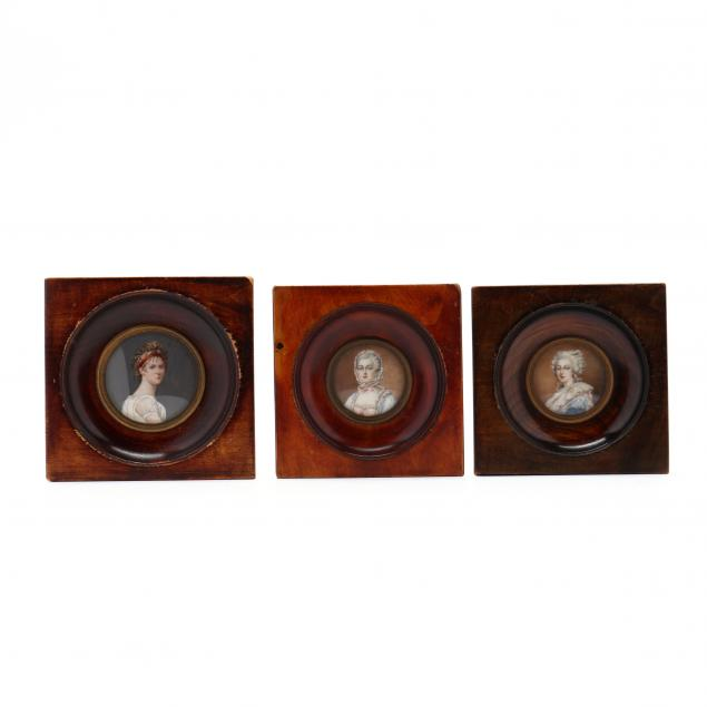 three-antique-french-portrait-miniatures
