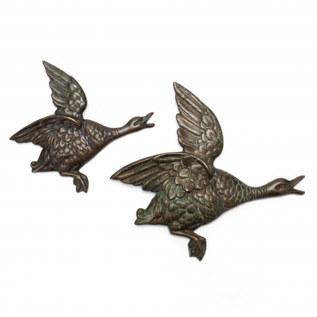 pair-of-antique-bronze-geese-wall-mounts