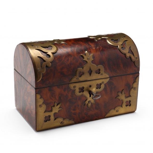 antique-english-burlwood-domed-lid-box