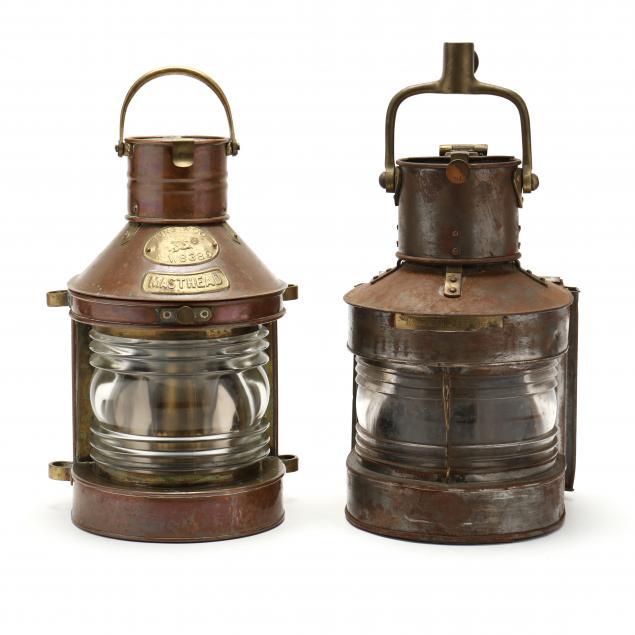 two-vintage-masthead-kerosene-lanterns