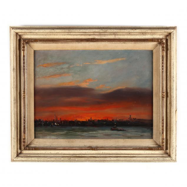 alfred-mira-ny-1900-1981-i-sunset-on-the-hudson-i