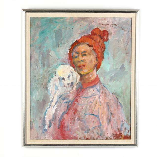 myrtle-jones-ga-1913-2005-self-portrait-with-her-dog