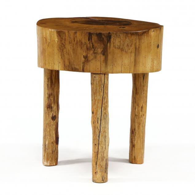 large-round-butcher-block-table