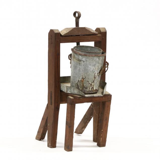 wooden-cider-press